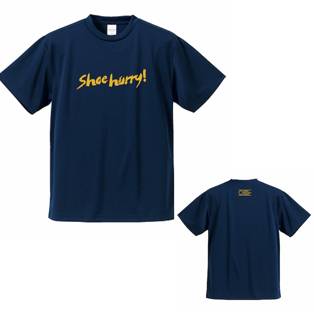 【限定】SHOEHURRY! DRY T-SHIRTS|ドライTシャツ(ネイビー/イエロー)