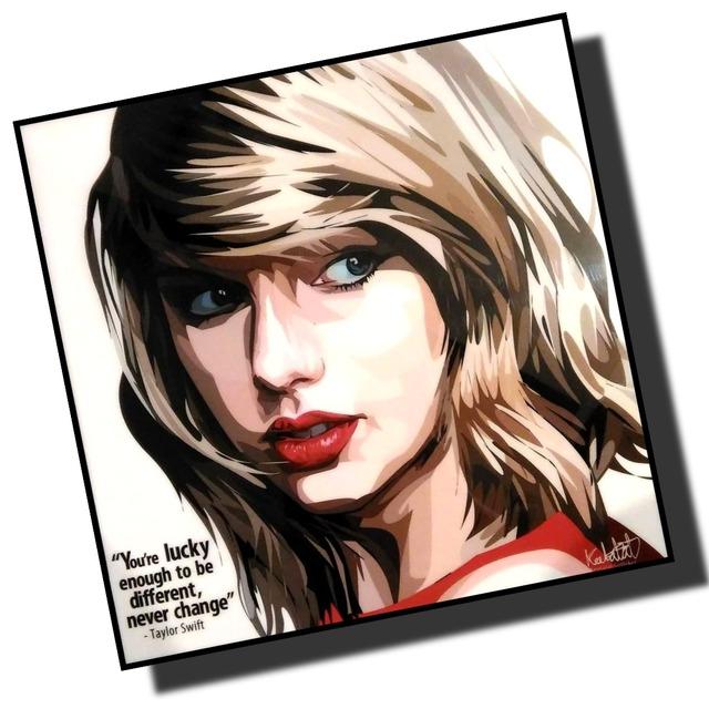テイラー・スウィフト デザインA カリスマアートパネル 木製 壁掛け ポスター グラフィックアート ポップアート (003-070)