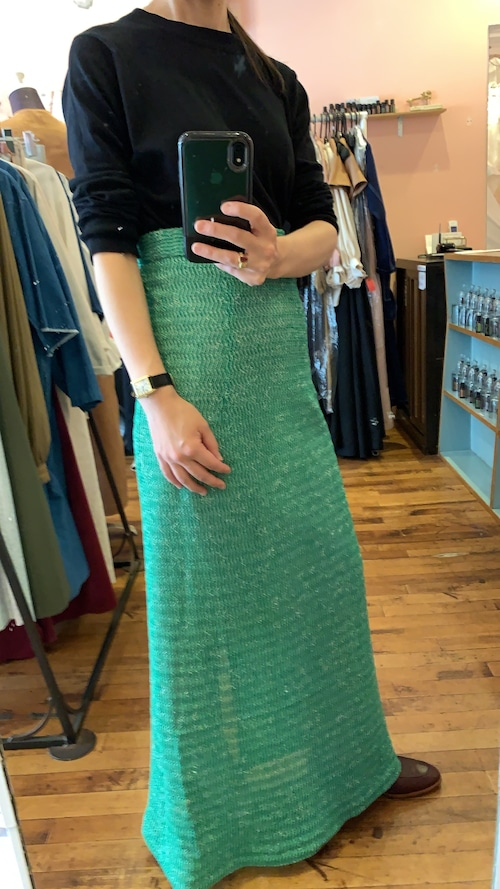 Classical skirt with vintage cotton knit