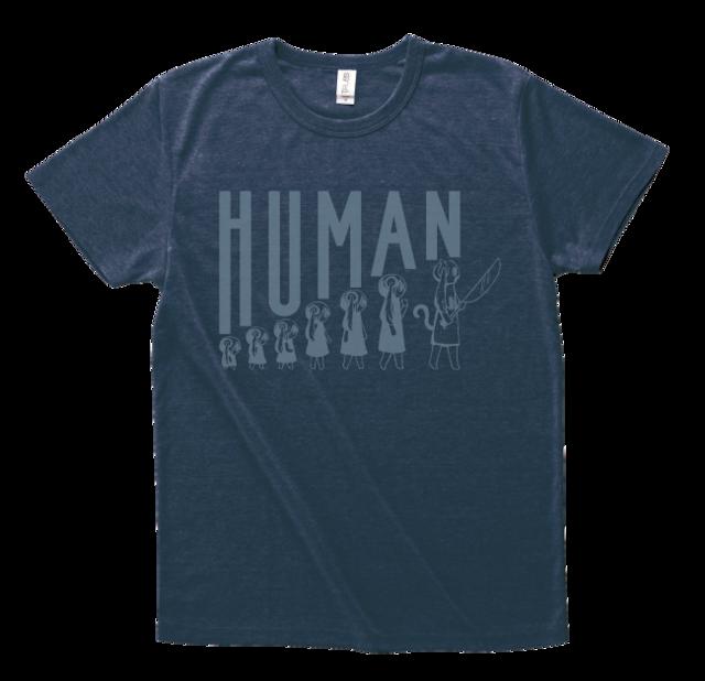 ピノキオピー 人間が着るやつTシャツ(メンズ / ネイビー) - メイン画像