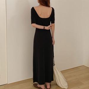 バックオープンワンピース | ロングワンピース 韓国服 シンプル