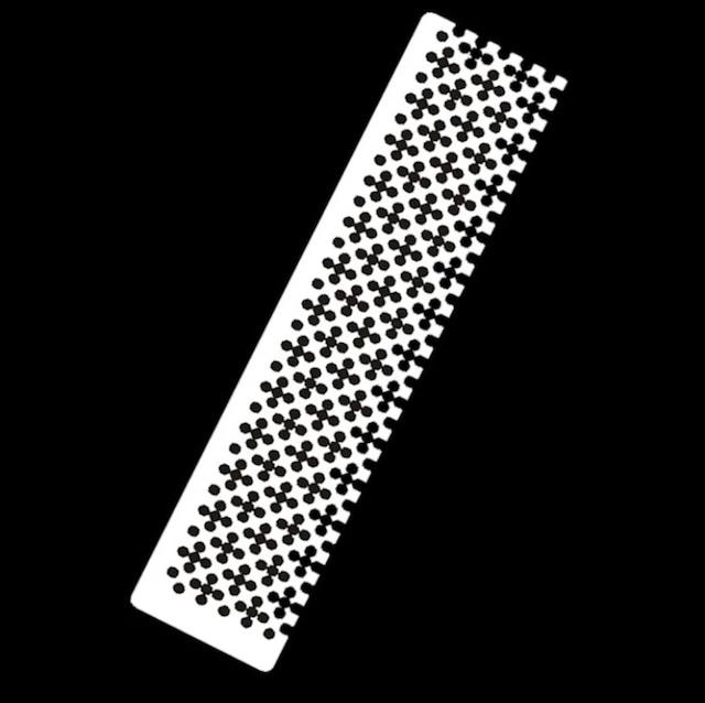 再入荷‼️丸ビーズ用【市松模様のステンレス定規】(ハーフ)