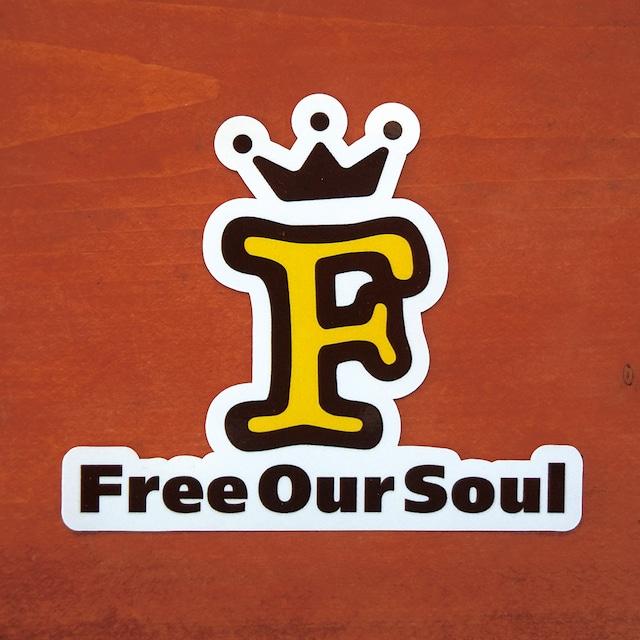 Free Our Soul オリジナルステッカー 防水 UV加工