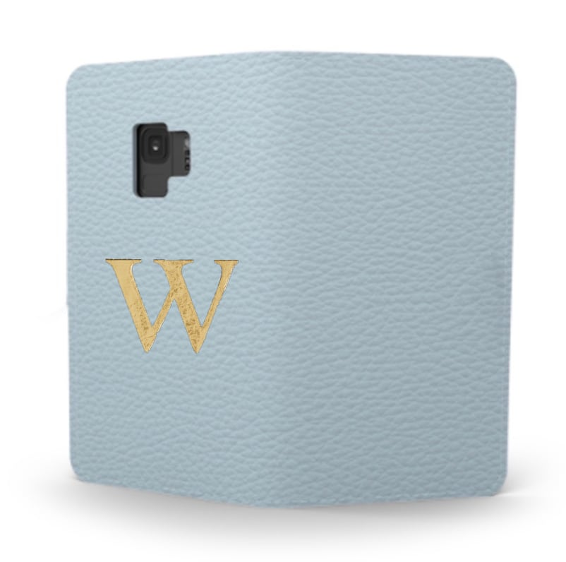 Galaxy Premium Shrink Leather Case (Sky Blue)  : Book cover Type