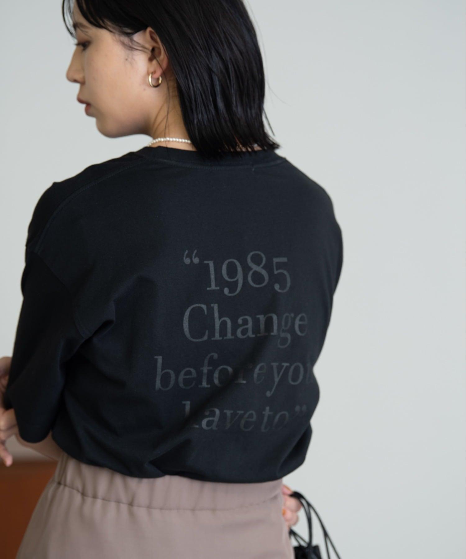 1985 Back logo TEE/BLK