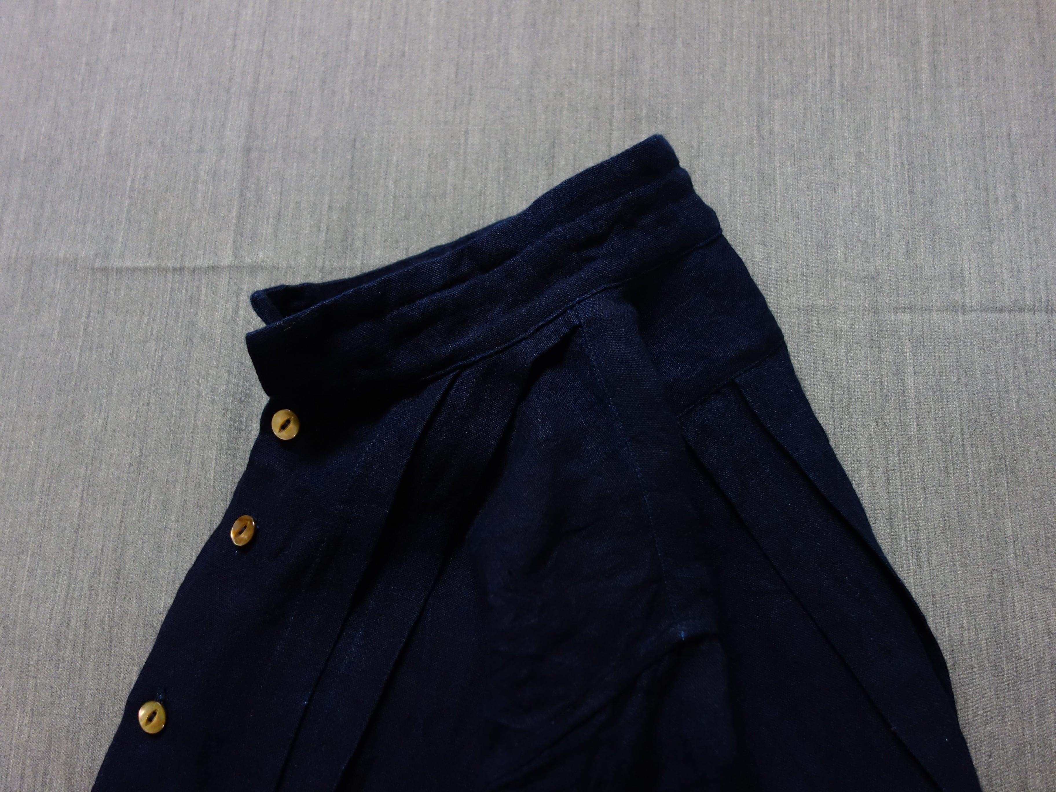 french victorians heavylinen shirt / indigolinen