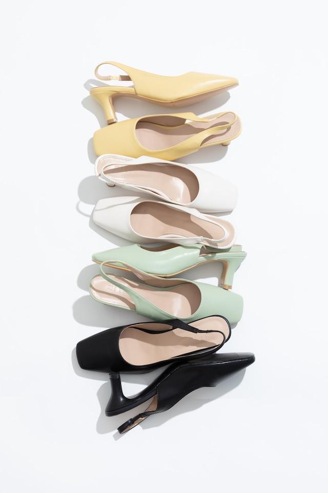 square heel pumps