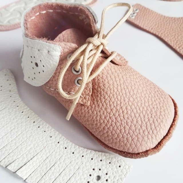 《First Baby Shoes》Model : SKY ファーストシューズ手作りキット Salmon pink