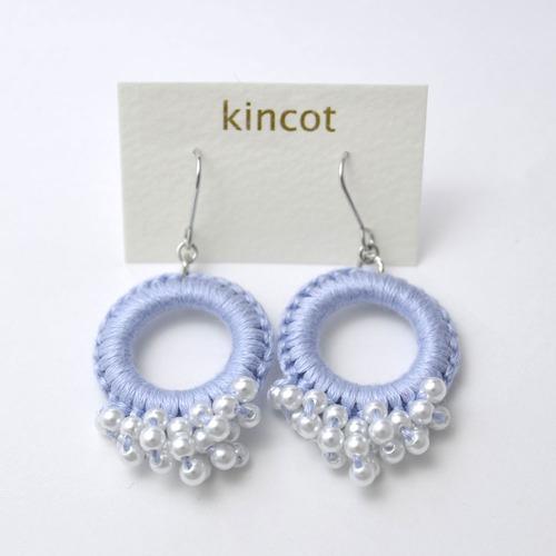 kincot リングパールピアス(ライトパープル)