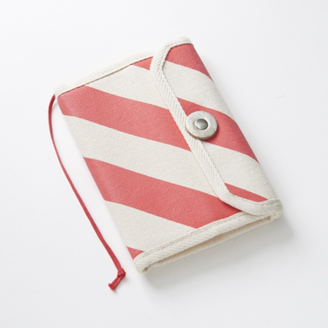 book jacket/vermilion x stripe, scale, dot 文庫本カバー / 朱 x 縞・鱗・水玉