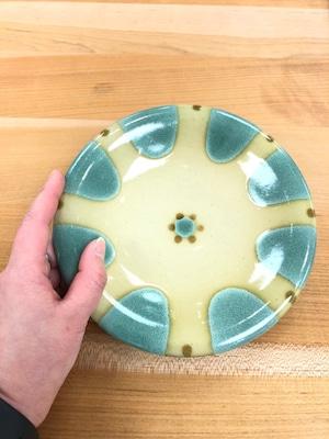 【ノモ陶器製作所】やちむん 6寸皿(緑釉)