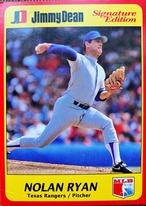 MLBカード 91JIMMY DEAN Nolan Ryan RANGERS