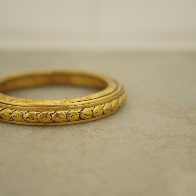 【FRENCH ANTIQUE】ANTIQUE GOLD BANGLE