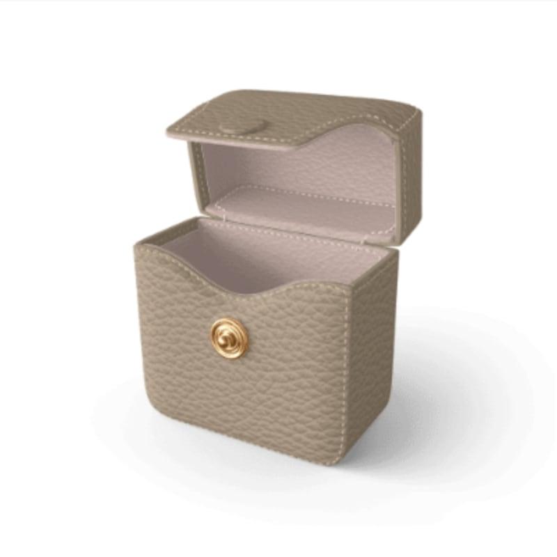 Air Pods Case Premer Shrink Leather (Beige)