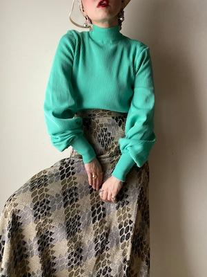 70s Metallic Maxi Skirt