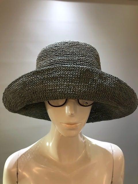 Sans Arcidet (サンアルシデ)FANNY HAT Col.GreenBlue ラフィア定番人気の帽子 マダガスカル製