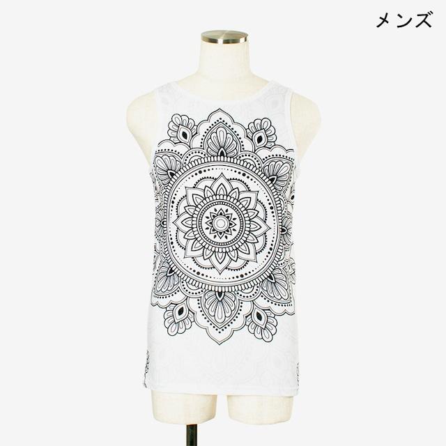 ヨガプリントタンク マンダラ2 メンズ/ユニ Men's Yoga Print tank top Mandala2
