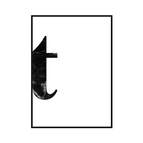 """t"" 黒大理石 - Black marble - ALPHAシリーズ [SD-000547] A4サイズ ポスター単品"