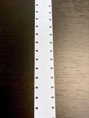 16ミリフィルム用 白リーダーフィルム【1メートル】