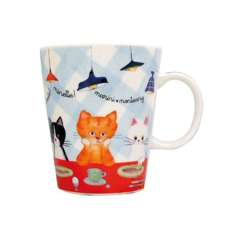 猫マグカップ(エクートミネットスマートマグ)食卓