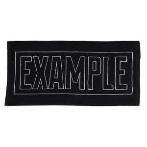 EXAMPLE BIG TOWEL / BLACK