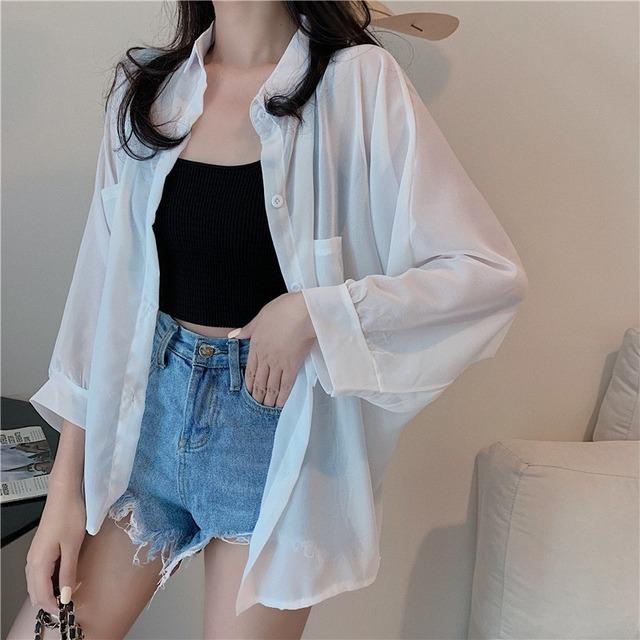 【アウター】涼しい日焼け止め韓国ファッションおしゃれカジュアルシンプルレトロカーディガン31308691