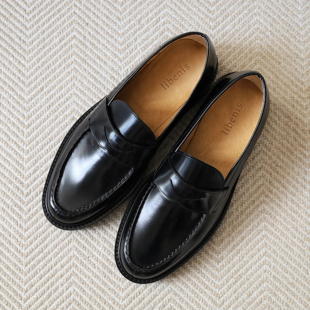 【libenis × MARSEE】Glass Leather Coin Loafer 【即納】