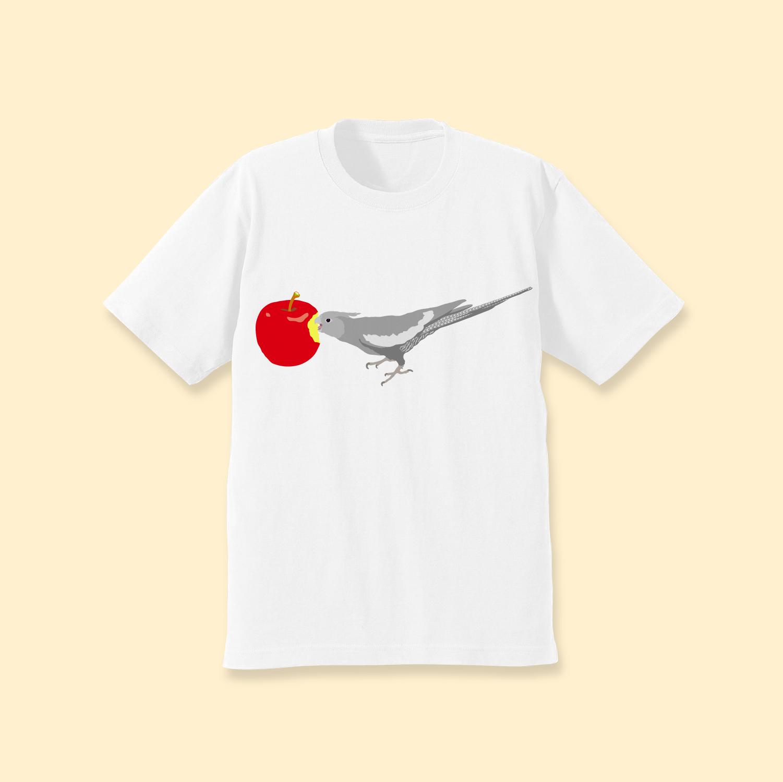 ことりちゃんTシャツ(オカメインコ ホワイトフェイス女の子)