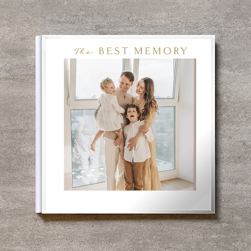 Square flame(白)-FAMILY_A4スクエア_10ページ/20カット_クラシックアルバム(アクリルカバー)
