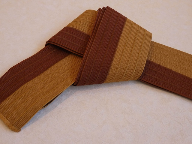 角帯 組紐 キャラメル