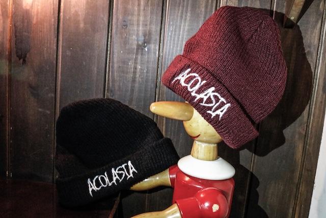 ロゴ刺繍 ニット帽