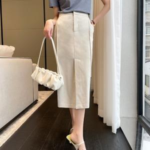 ハイウエストセンタースリットタイトスカート ・2555