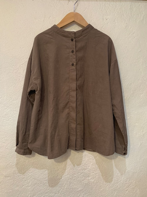 nachukara/細コーデュロイ2WAY長袖シャツ  ベージュ