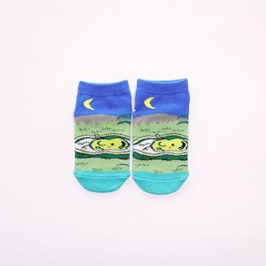 靴下 キッズ/ブルー 【そらまめくんのベッド】【絵本のくつした】