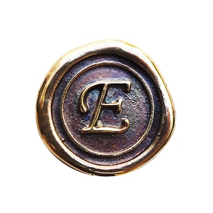 シーリングイニシャル S 〈E〉 ブラス / コンチョボタン