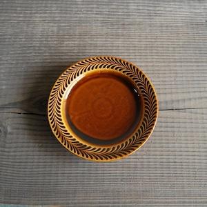 感器工房 波佐見焼 翔芳窯 ローズマリー リムプレート 皿 約18cm ブラウン 332723