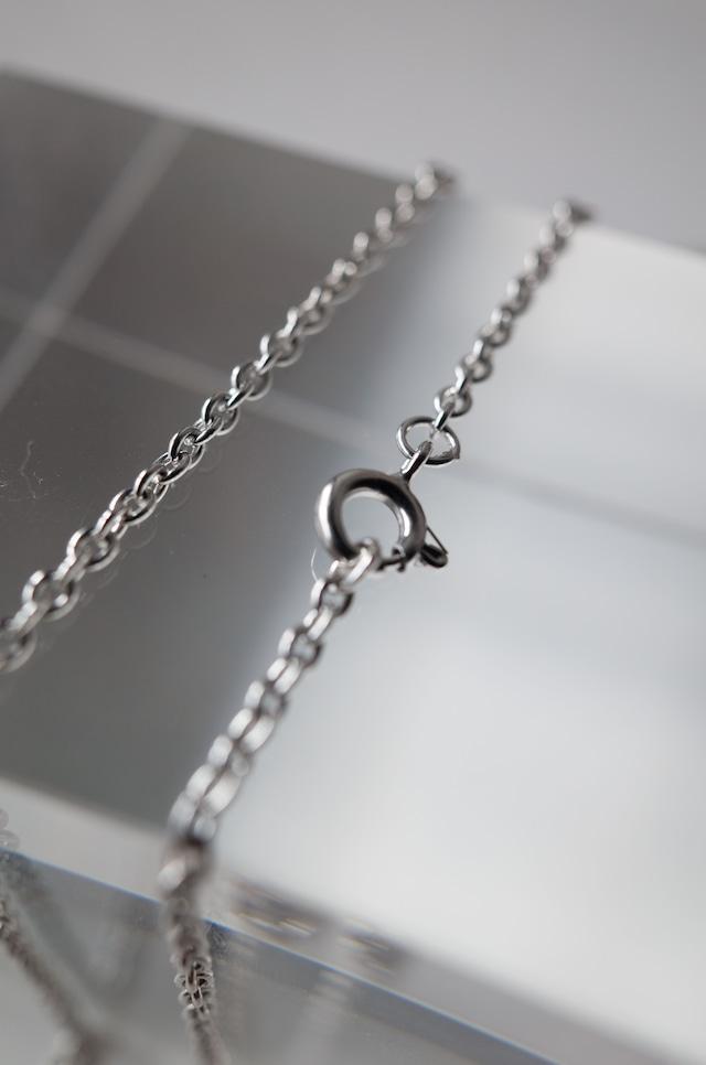 Silver Cahin Necklace 70cm - 002