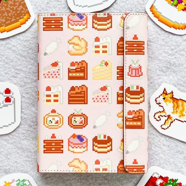 システム手帳ミニ6穴(ポケット)サイズ  音栖さんのケーキいっぱい柄