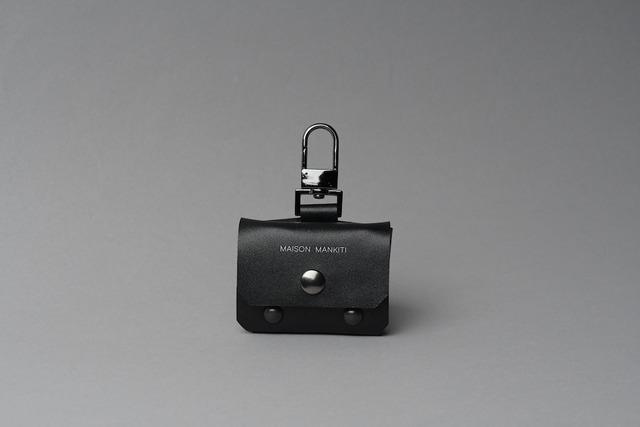 AirPods Pro case ヨコ □レザー・ブラック□ - メイン画像