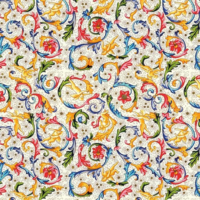【Paperproducts Design】バラ売り2枚 ランチサイズ ペーパーナプキン FIORENTINA マルチカラー