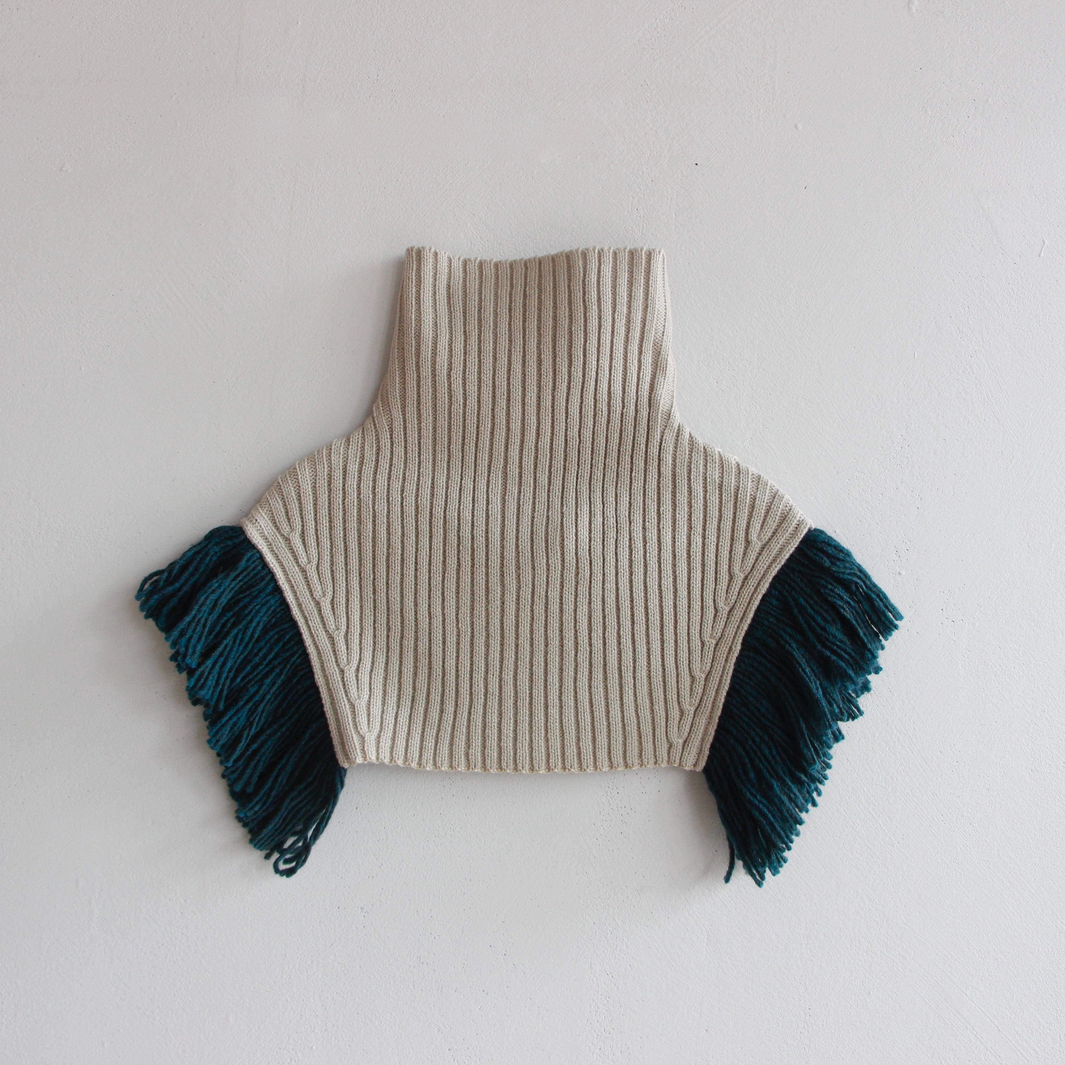 《eLfinFolk 2021AW》Rib knit cape / ecru / S・M