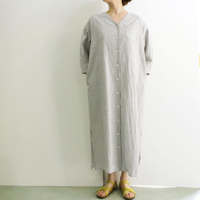 COMM.ARCH  コム・アーチ   NO COLLAR LONG SHIRT ノーカラーロングシャツ