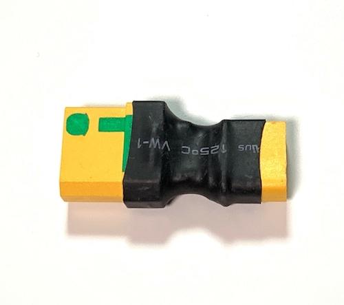 Amass純正◆アンチスパーク変換プラグ◆Amass純正XT60メスプラグ付きバッテリーをAmass純正XT90アンチスパークメス仕様に変換するプラグ★T-REX550Xに重宝します。