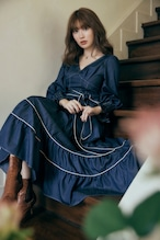 Signs of Autumn Belted Dress
