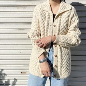 """USED """" alan knit cardigan / アランニットカーディガン """""""