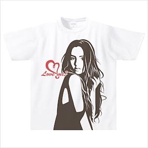 【受注発注商品】Love me? ドライTシャツ(ホワイト) Sサイズ