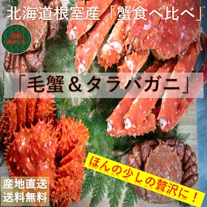 北海道根室産【堅蟹】活ボイル冷凍「食べ比べ」2種類比較【送料無料】