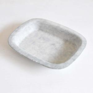 鈴木智子(いにま陶房) 長方形リムプレート L(14-B)