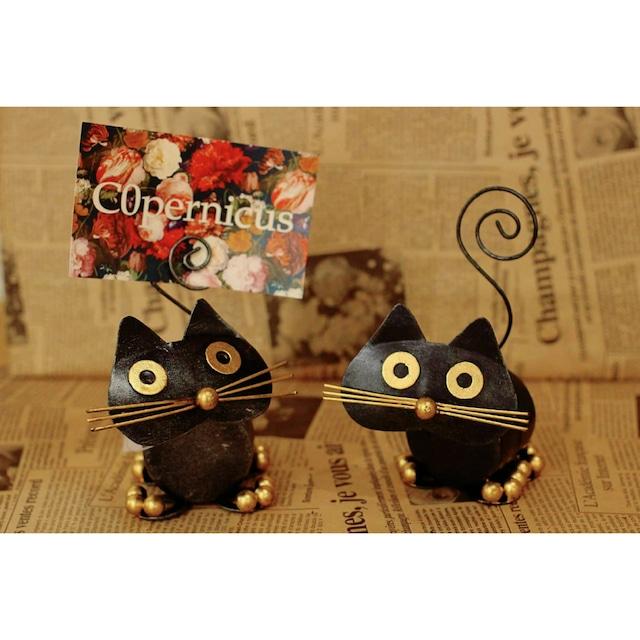 ブリキ猫のカードスタンド:ネコ雑貨浜松雑貨屋 C0pernicus