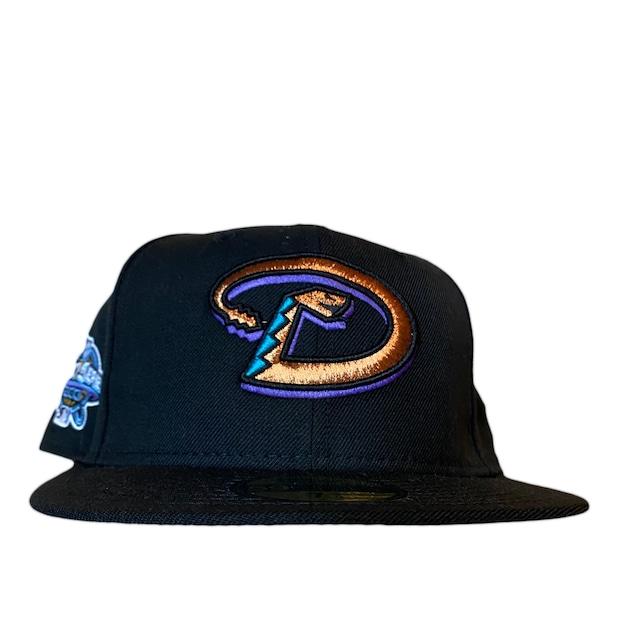 NEW ERA Arizona Diamondbacks 1998 Inaugural Season 59Fifty Fitted /Black (Ice Blue Brim)